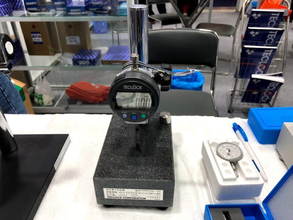 Đồng hồ đo độ dày Teclock PG-20J - maydothinghiem.com.vn