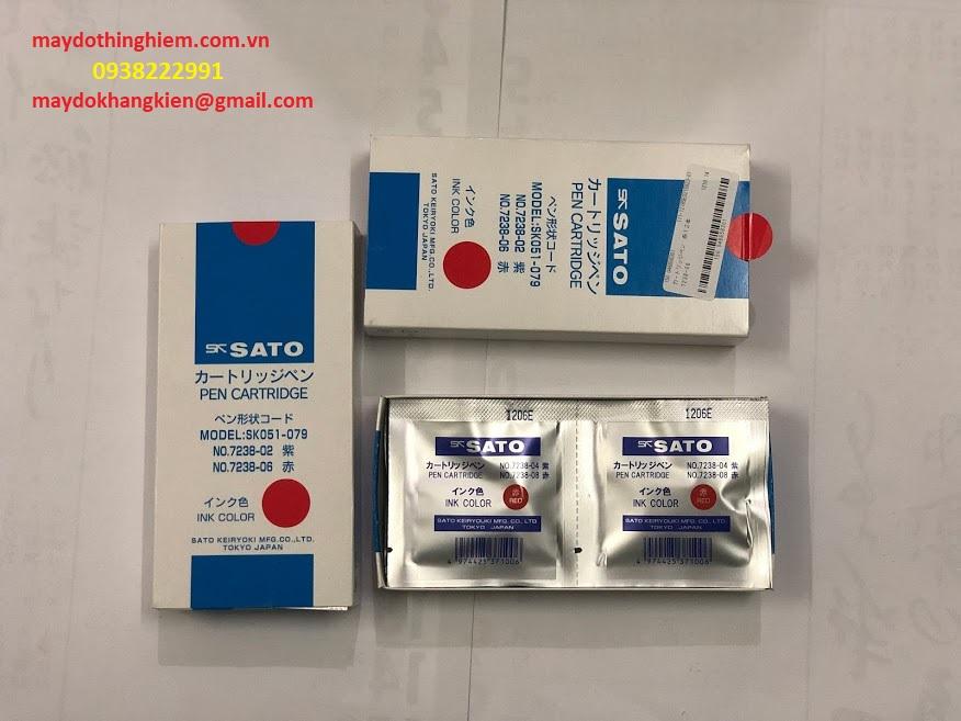 Bút ghi nhiệt kế Sato màu đỏ 7210-92-0938222991-maydokhangkiengmail.com