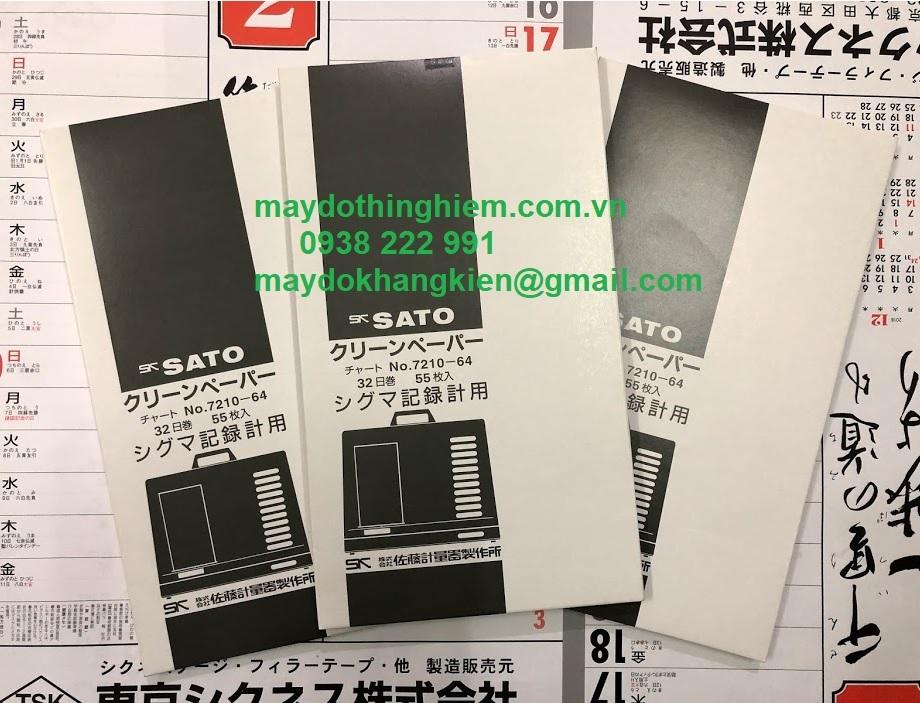 Giấy ghi nhiệt 32 ngày Sato 7210-64 - 0938222991 - maydokhangkien@gmail.com