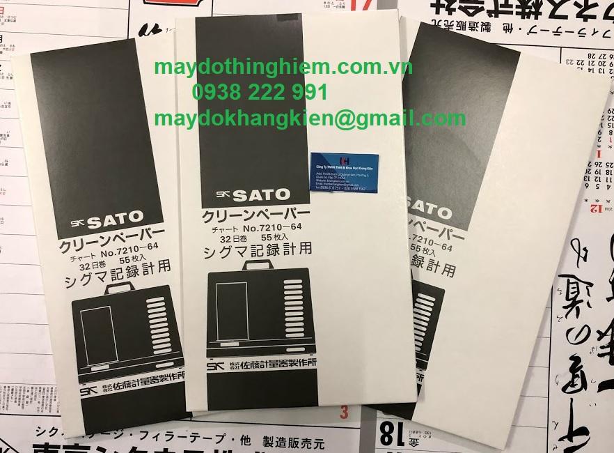 Giấy ghi nhiệt 32 ngày Sato 7210-64