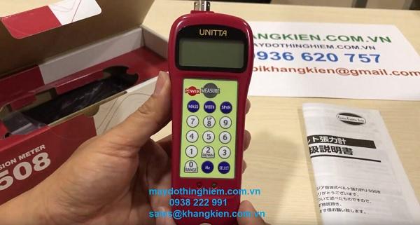Cài đặt thông số máy đo lực căng dây belt Unitta U508