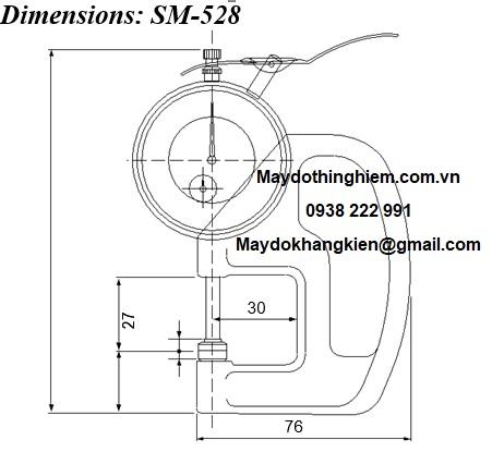 Sơ đồ chi tiết đồng hồ đo độ dày SM-528 Teclock