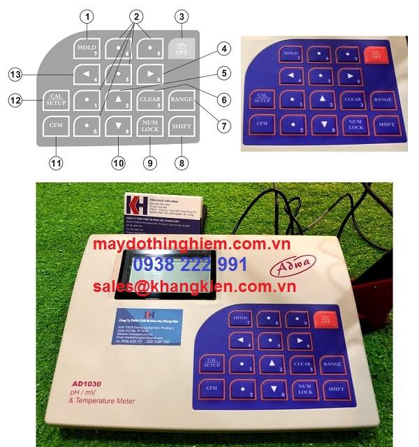 Hướng dẫn sử dụng máy đo ph AD1030 Adwa - bàn phím AD-1030