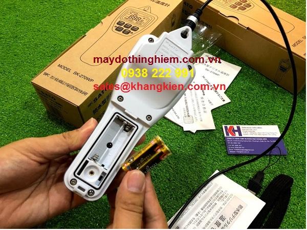 Hướng dẫn sử dụng nhiệt kế SK-270wp - lắp pin