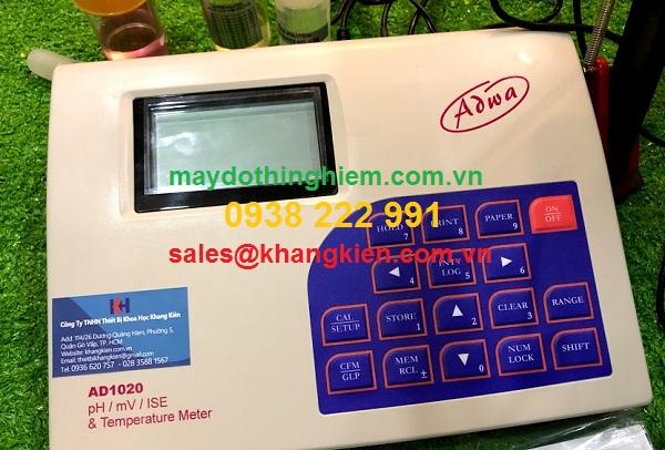 Hướng dẫn sử dụng máy đo pH/mV Adwa AD1020