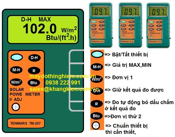 HDSD thiết bị đo bức xạ Tenmars TM-207