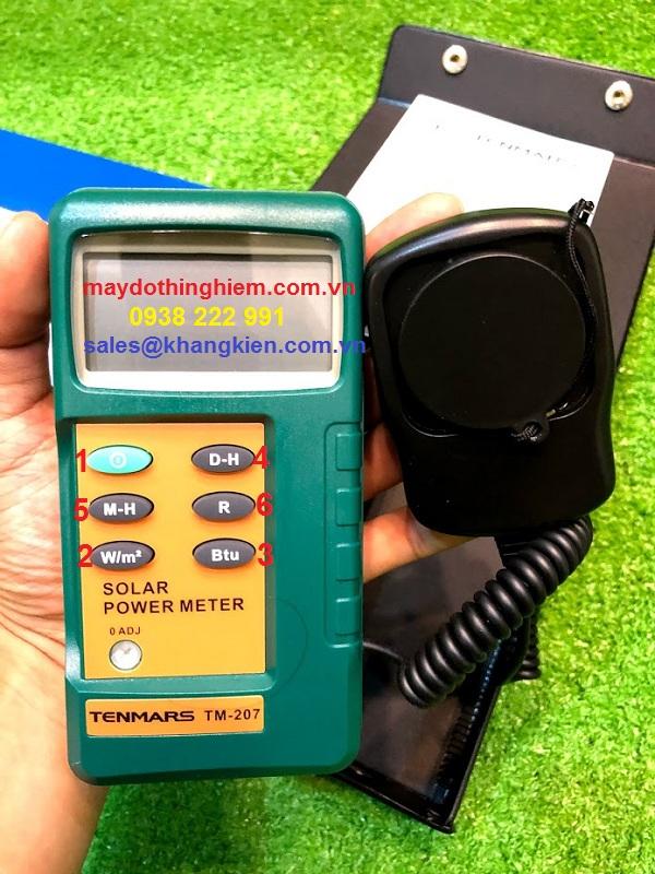 hướng dẫn sử dụng máy đo ánh sáng TM-207