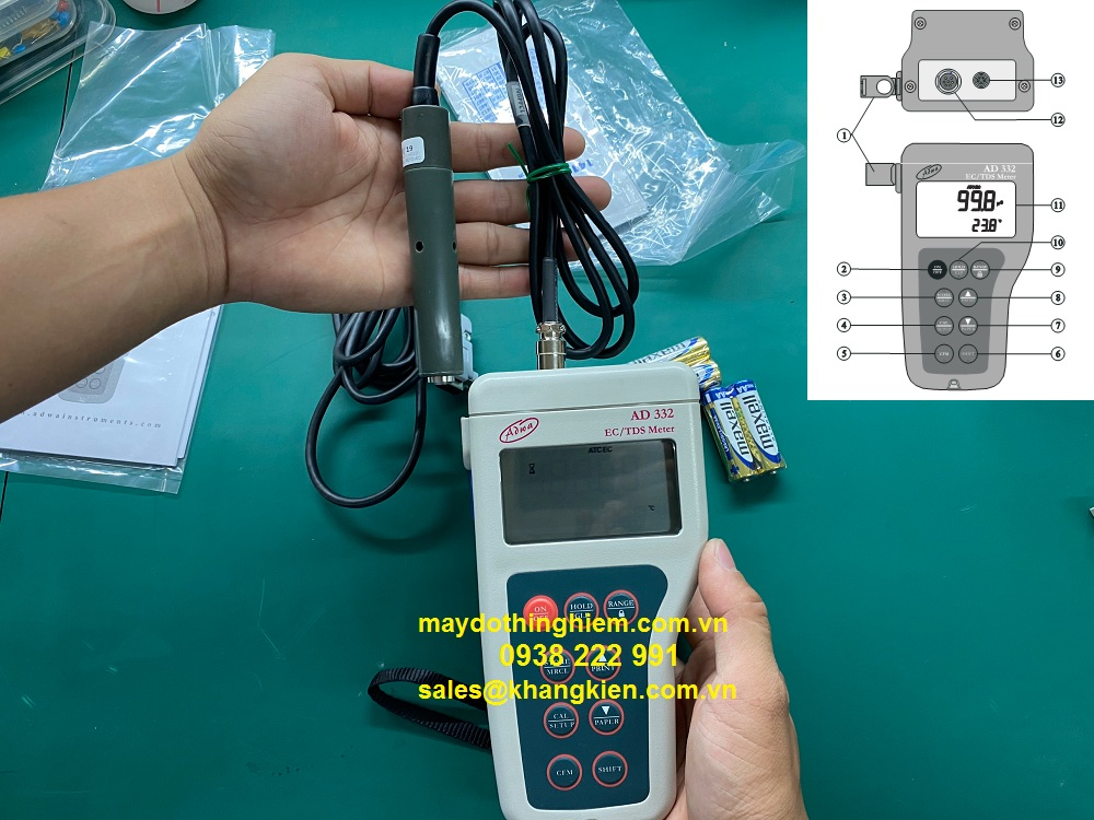 Hướng dẫn sử dụng máy đo AD332