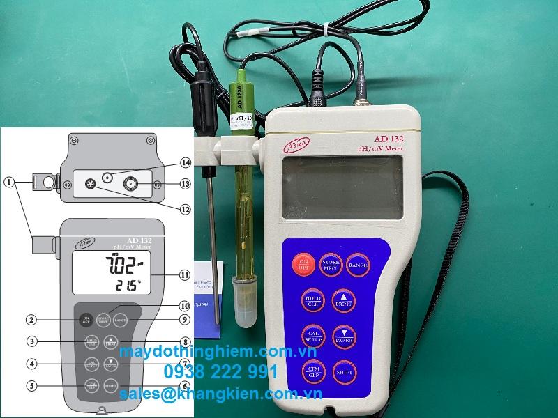 Hướng dẫn sử dụng máy đo pH-ORP cầm tay AD132