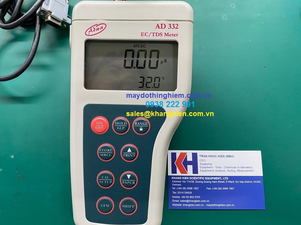 Hướng dẫn sử dụng máy đo độ dẫn, TDS và nhiệt độ dạng cầm tay AD332