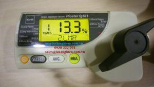 nhấn MEA để bắt đầu lấy kết quả chờ 5s đọc kết quả đo được