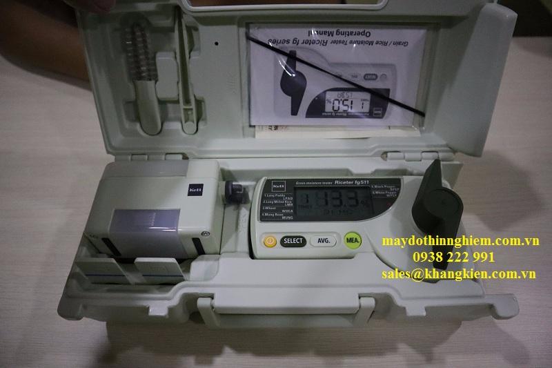 Máy đo độ ẩm gạo Kett FG511 thiết bị được bảo quản rất tinh tế