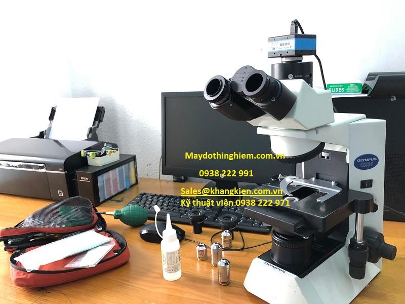 Bảo tri sửa chữa mất nguồn và vệ sinh kính hiển vi