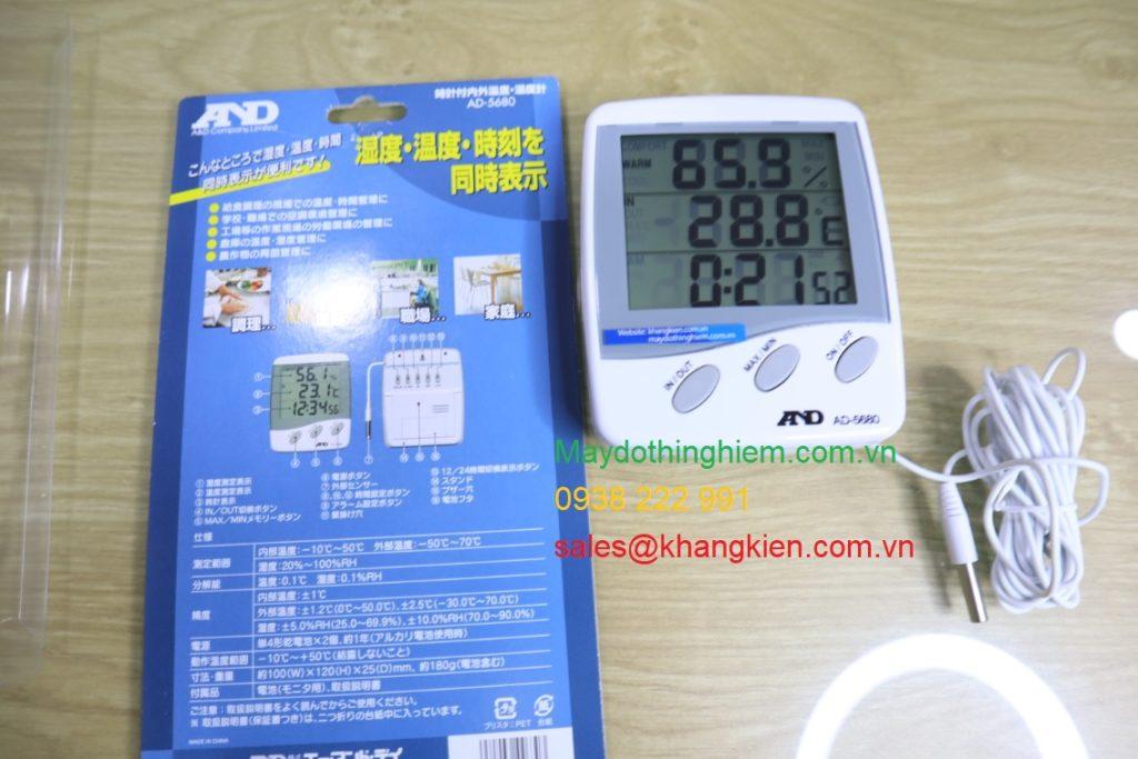 Cách sử dụng nhiệt ẩm kế AD-5680