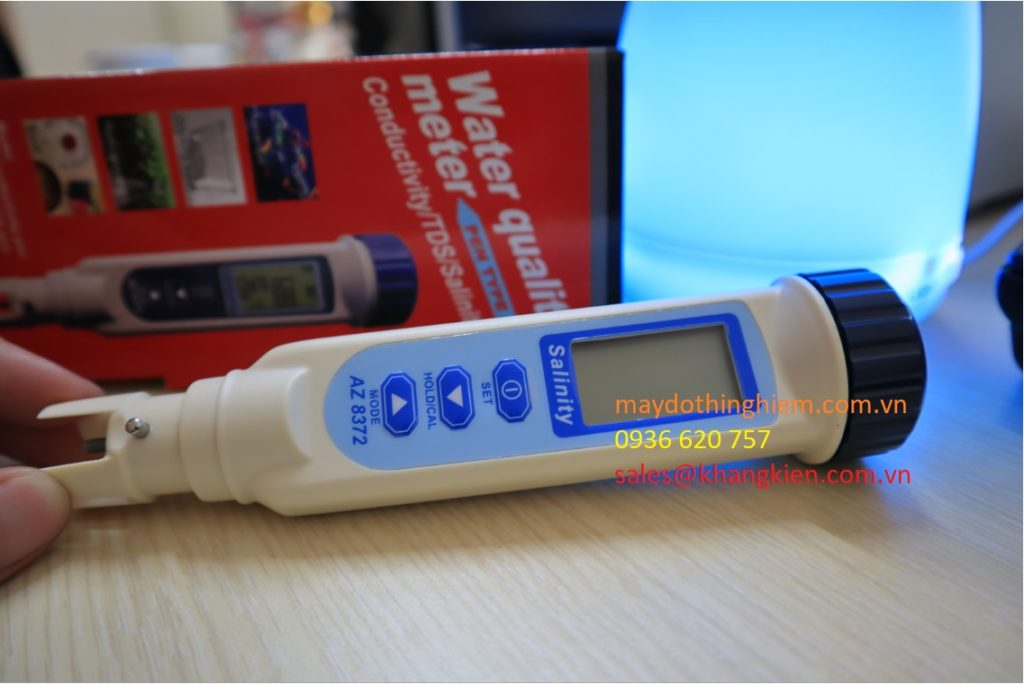 Máy đo độ mặn AZ8372 hiệu chỉnh dễ dàng - So sánh tính năng trên bút đo độ mặn AZ8371 và AZ8372