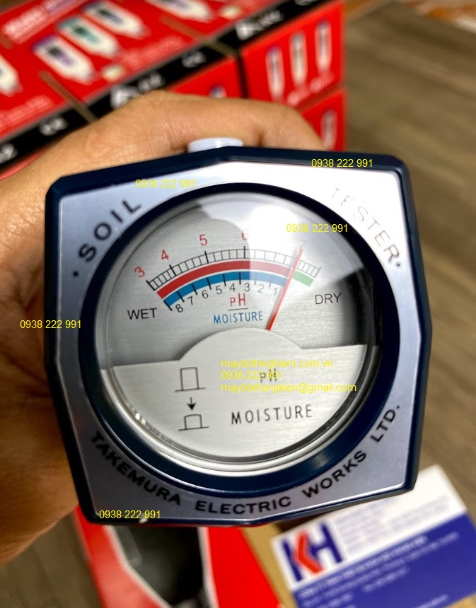 Máy đo độ ẩm pH đất DM-15 Xuất xứ Nhật Bản