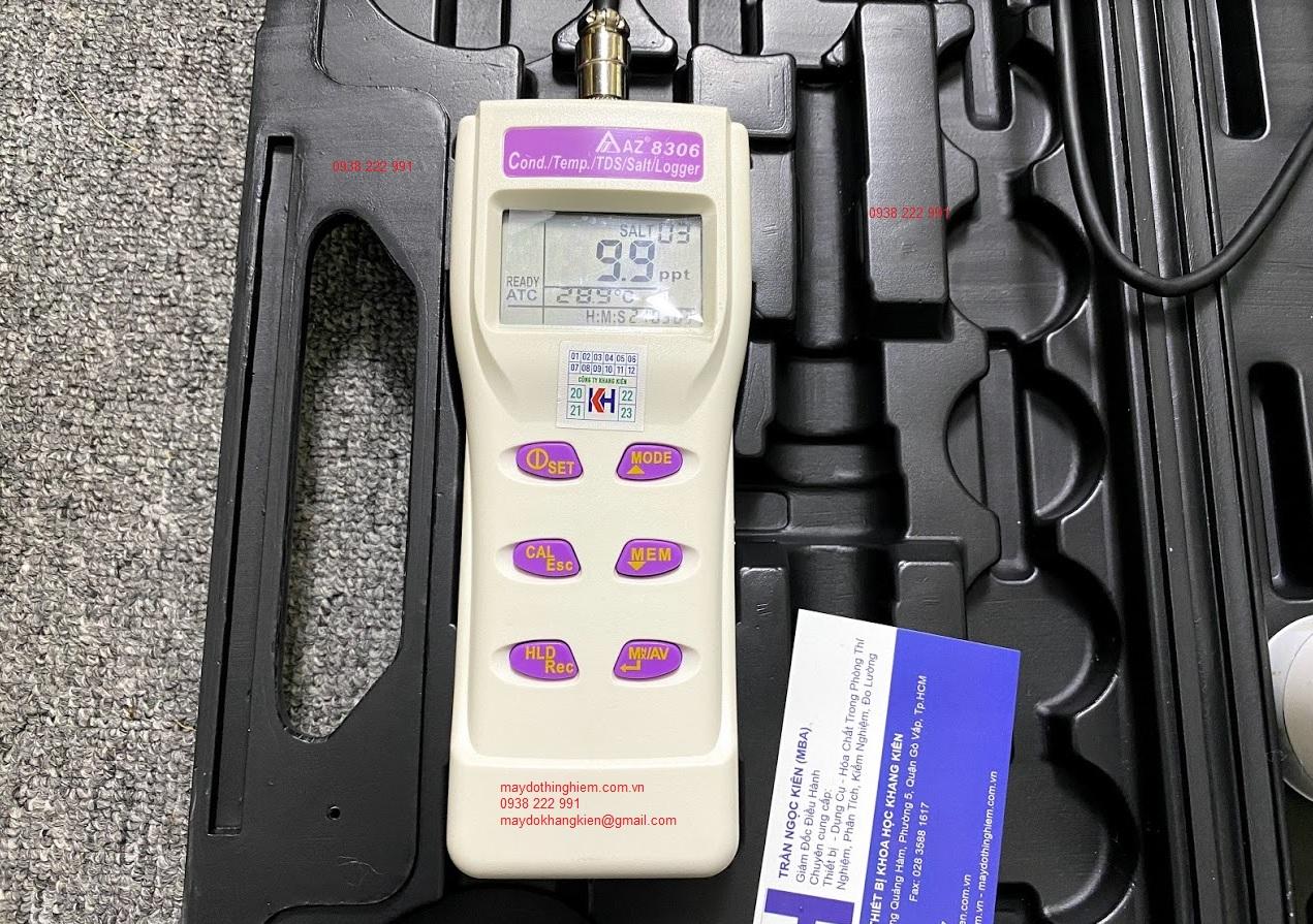 Hướng dẫn sử dụng máy đo độ mặn COND TDS AZ 8306 - Các phím chức năng của AZ-8306