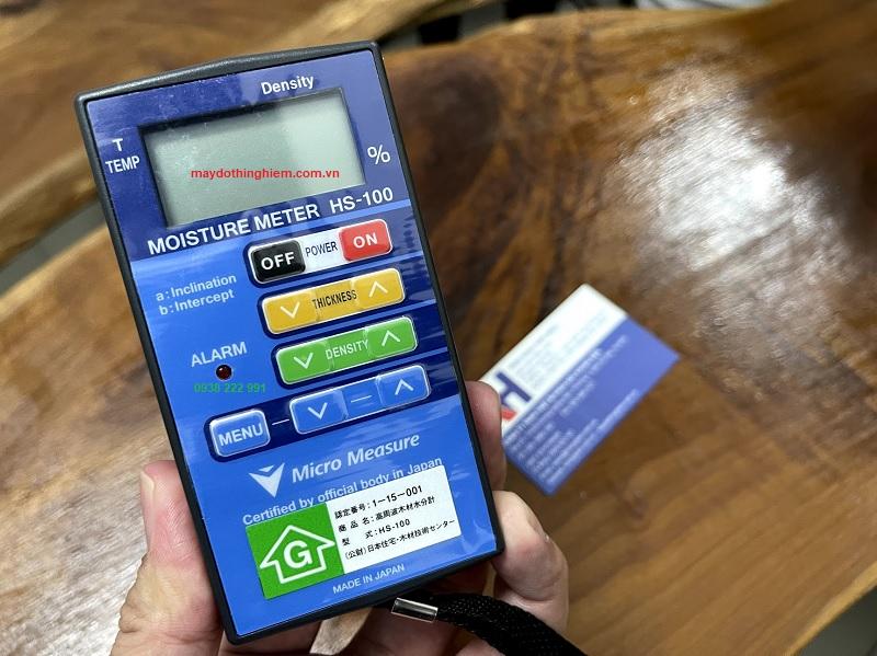 Hướng dẫn sử dụng máy đo độ ẩm gỗ HS100