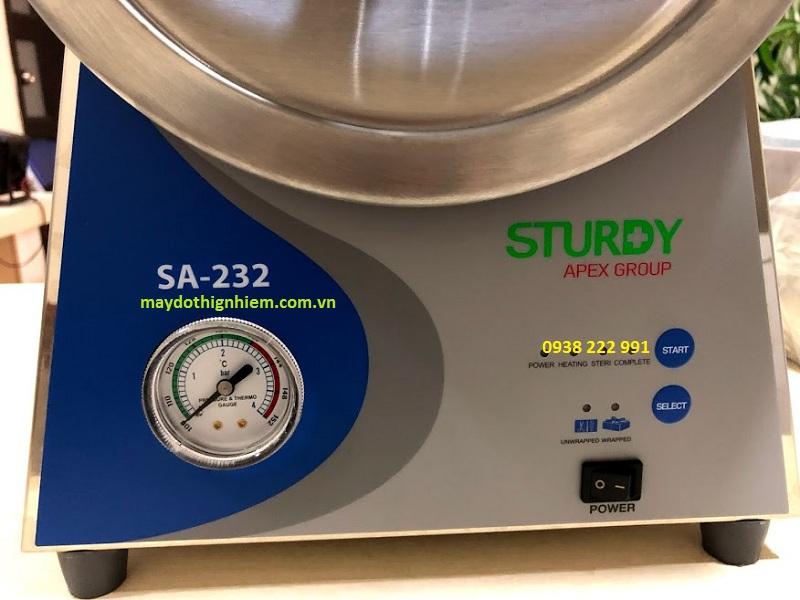 Hướng Dẫn Sử Dụng Nồi Hấp Tiệt trùng Sturdy SA-232 thời gian tiệt trùng 18 phút hay 33 phút.